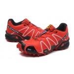 Women's Salomon Speedcross 3 CS Trail Running Shoes In Red Black