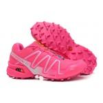 Women's Salomon Speedcross 3 CS Trail Running Shoes In Rose Red Silver
