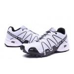 Women's Salomon Speedcross 3 CS Trail Running Shoes In White Black
