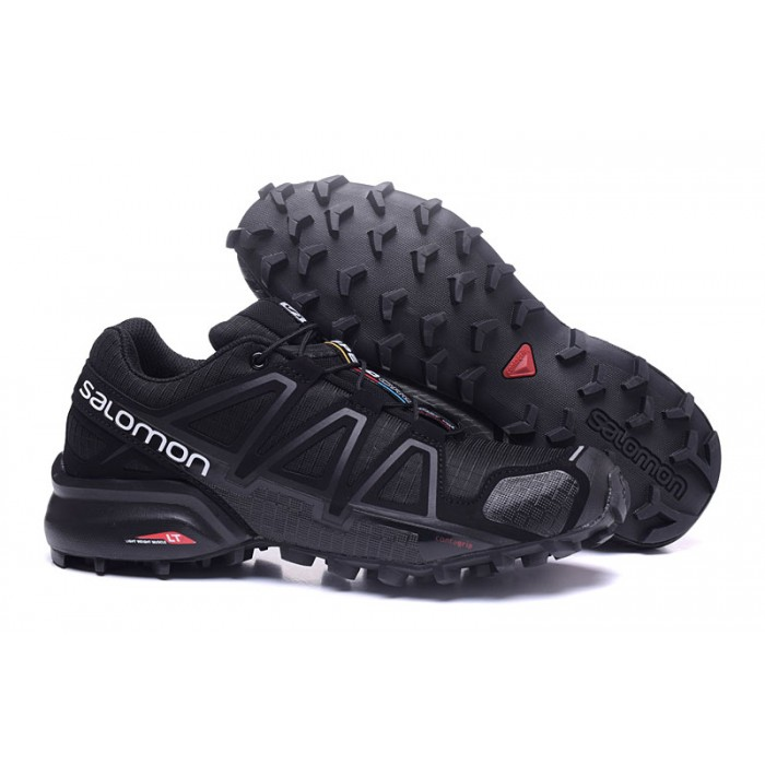 Men's Salomon Speedcross 4 Trail Running Shoes In Black