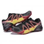 Men's Salomon Speedcross 4 Trail Running Shoes In Black Orange