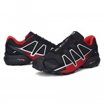 Men's Salomon Speedcross 4 Trail Running Shoes In Black Red