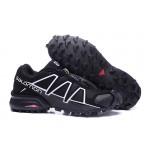Men's Salomon Speedcross 4 Trail Running Shoes In Black White