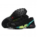 Men's Salomon Speedcross 4 Trail Running Shoes In Black Yellow Green