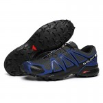 Men's Salomon Speedcross 4 Trail Running Shoes In Blue Black