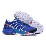 Men's Salomon Speedcross 4 Trail Running Shoes In Blue Blue