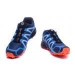 Men's Salomon Speedcross 4 Trail Running Shoes In Blue Orange