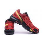 Men's Salomon Speedcross 4 Trail Running Shoes In Red Black
