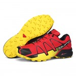 Men's Salomon Speedcross 4 Trail Running Shoes In Red Yellow