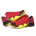 Men's Salomon Speedcross 4 Trail Running Shoes In Red Yellow