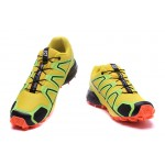 Men's Salomon Speedcross 4 Trail Running Shoes In Yellow Orange