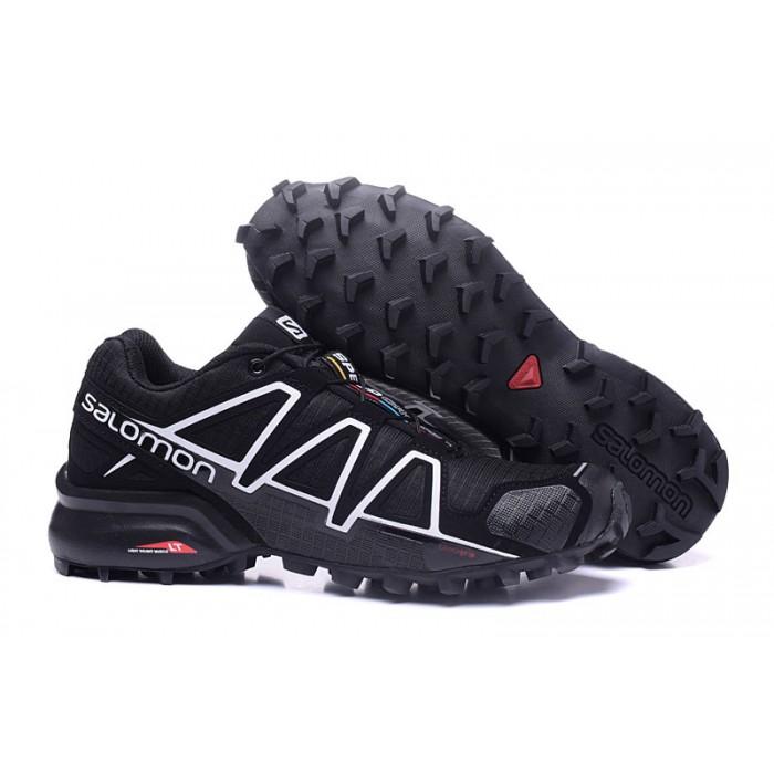 Women's Salomon Speedcross 4 Trail Running Shoes In Black White