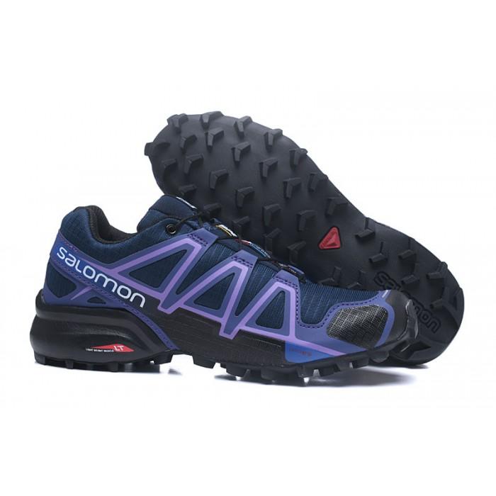 Women's Salomon Speedcross 4 Trail Running Shoes In Blue Purple