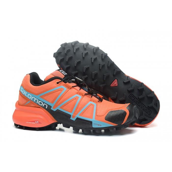 Women's Salomon Speedcross 4 Trail Running Shoes In Orange Black
