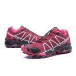 Women's Salomon Speedcross 4 Trail Running Shoes In Wine Black