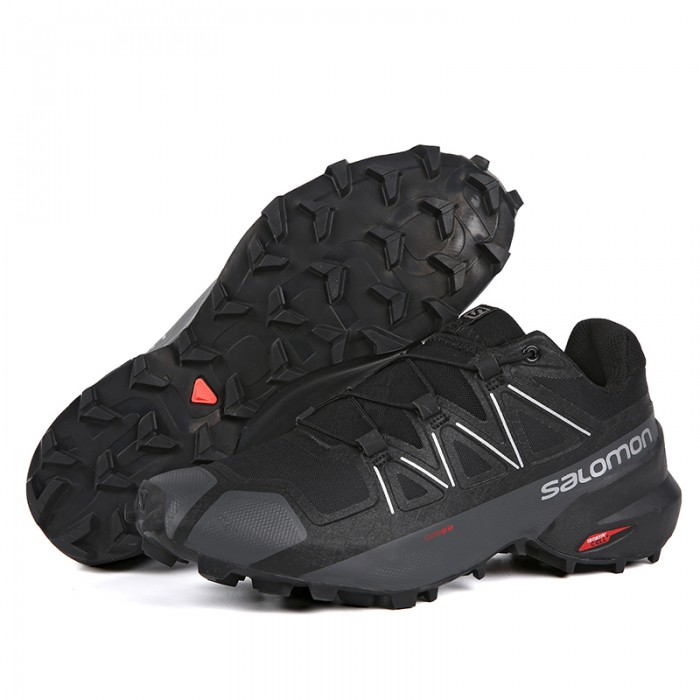 Salomon Speedcross 5 GTX Trail Running Shoes In Black Deep Gray
