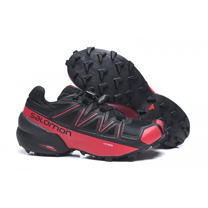 Salomon Speedcross 5 GTX Trail Running Shoes In Black Red
