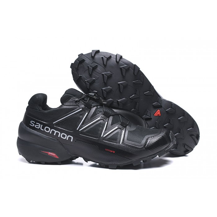 Salomon Speedcross 5 GTX Trail Running Shoes In Black Silver