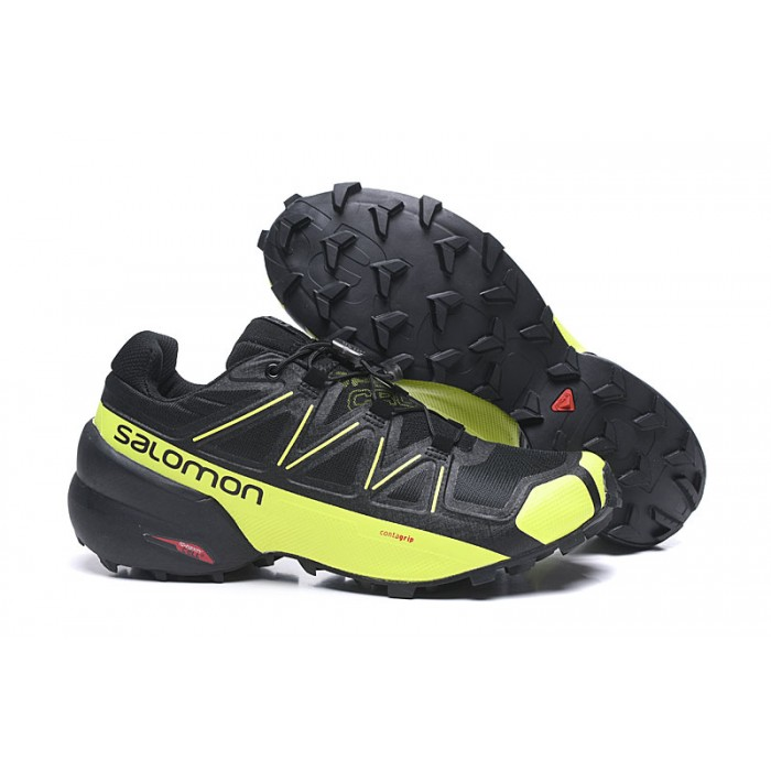 Salomon Speedcross 5 GTX Trail Running Shoes In Black Yellow
