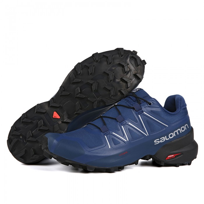 Salomon Speedcross 5 GTX Trail Running Shoes In Deep Blue