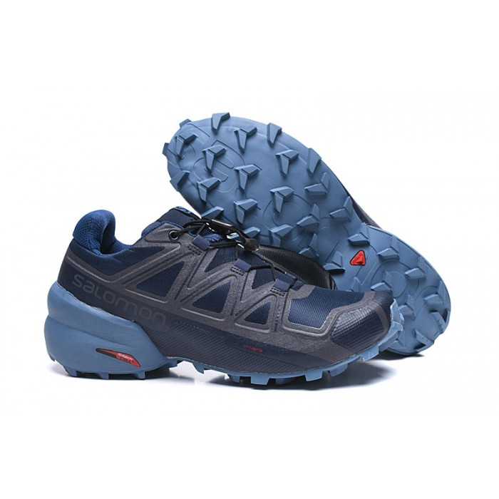 Salomon Speedcross 5 GTX Trail Running Shoes In Deep Blue Gray