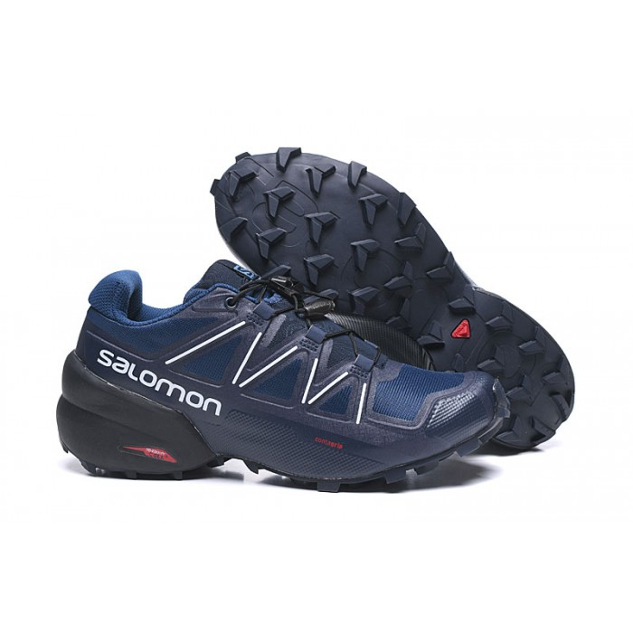 Salomon Speedcross 5 GTX Trail Running Shoes In Deep Blue White