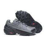 Salomon Speedcross 5 GTX Trail Running Shoes In Gray Black