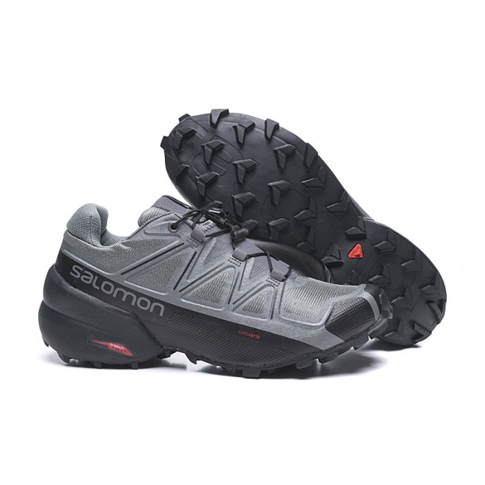 Salomon Speedcross 5 GTX Trail Running Shoes In Gray Black