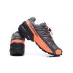 Salomon Speedcross 5 GTX Trail Running Shoes In Gray Orange