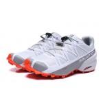 Salomon Speedcross 5 GTX Trail Running Shoes In White Grey