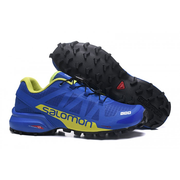Men's Salomon Speedcross Pro 2 Trail Running Shoes In Blue Yellow