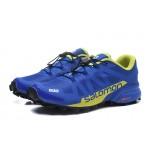 Men's Salomon Speedcross Pro 2 Trail Running Shoes In Blue Yellow