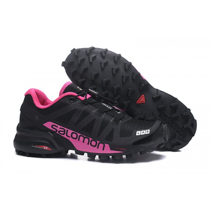 Women's Salomon Speedcross Pro 2 Trail Running Shoes In Black Rose Red