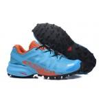 Women's Salomon Speedcross Pro 2 Trail Running Shoes In Lack Blue Orange