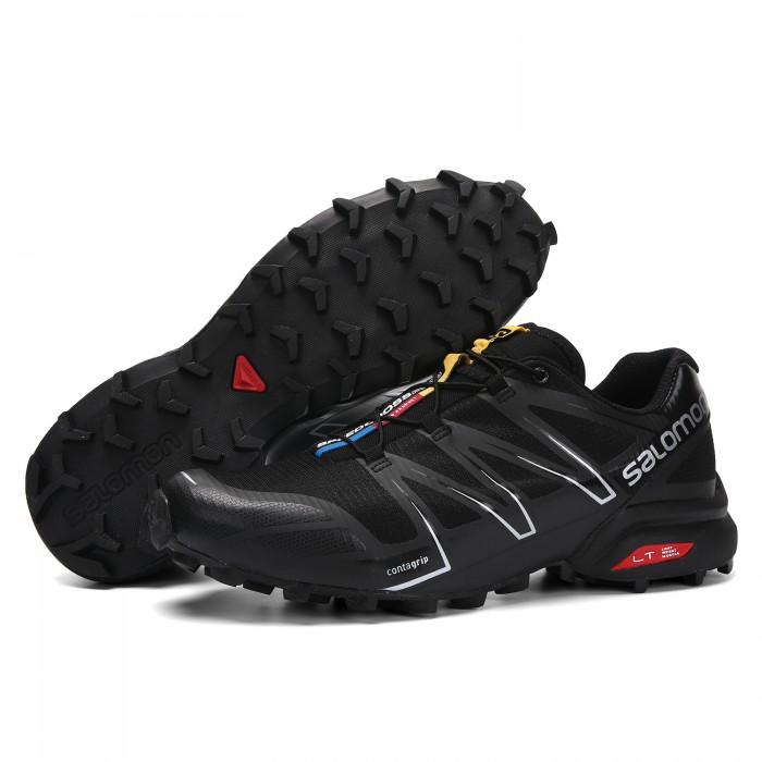 Salomon Speedcross Pro Contagrip Shoes In Black Silver