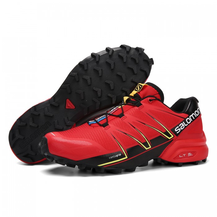 Salomon Speedcross Pro Contagrip Shoes In Red Black