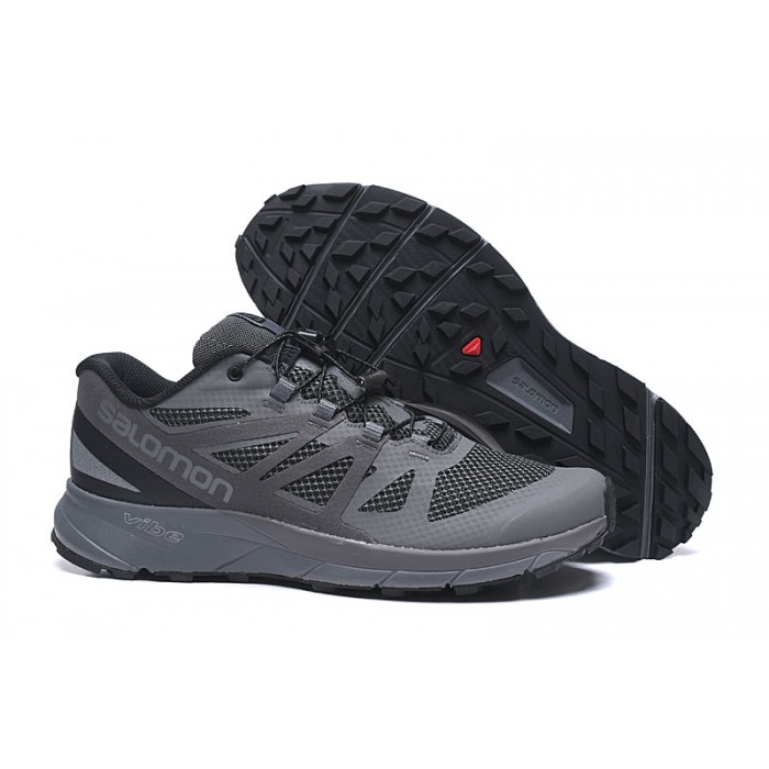Salomon Vibe Trail Runners Sense Ride Shoes In Deep Gray