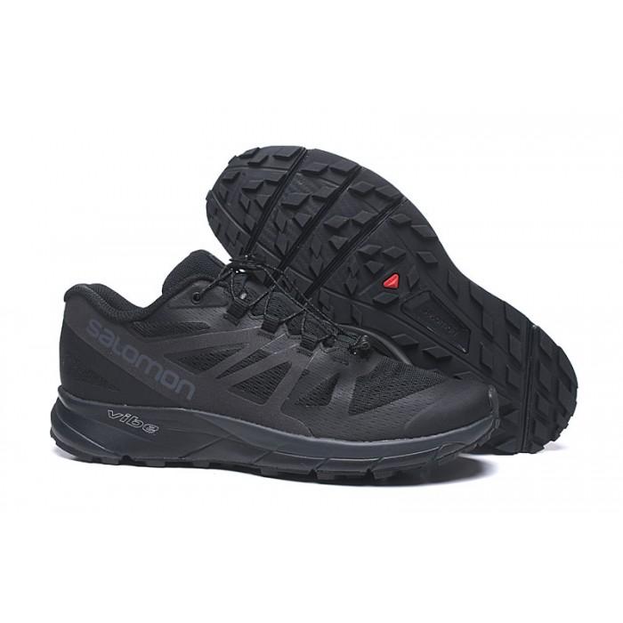 Salomon Vibe Trail Runners Sense Ride Shoes In Full Black