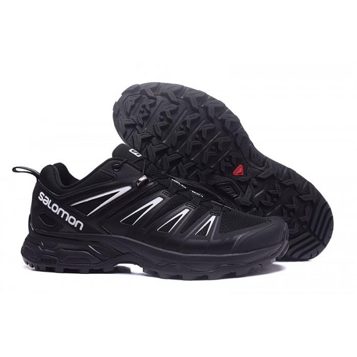Salomon X ULTRA 3 GTX Waterproof Shoes In Black Silver