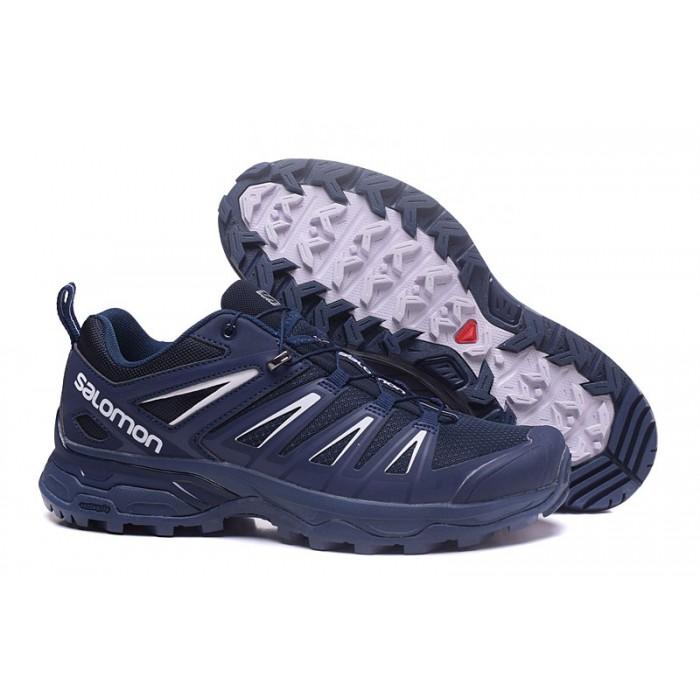 Salomon X ULTRA 3 GTX Waterproof Shoes In Blue White