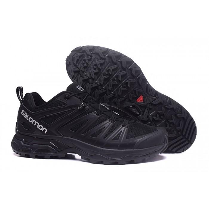 Salomon X ULTRA 3 GTX Waterproof Shoes In Full Black