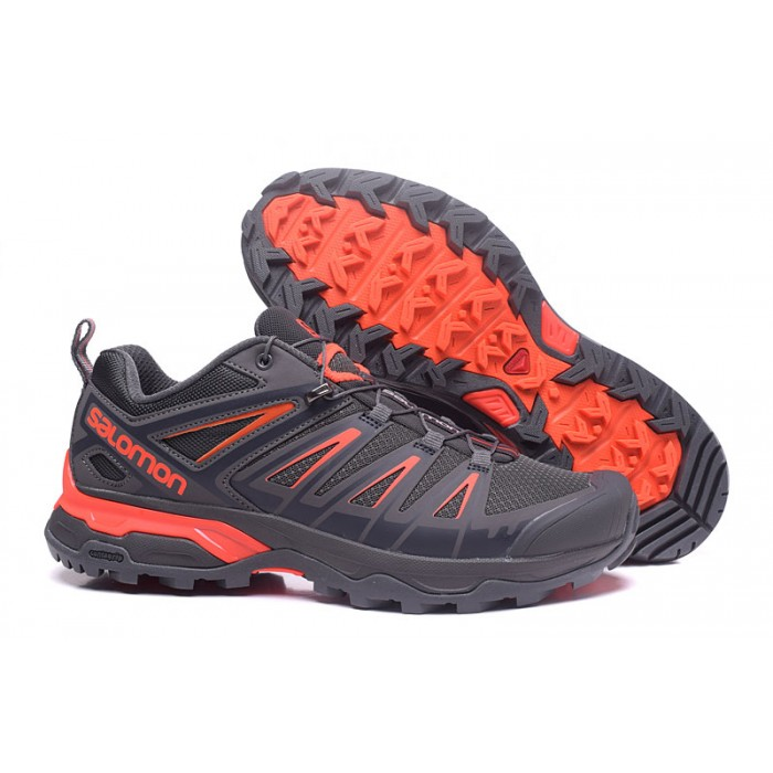 Salomon X ULTRA 3 GTX Waterproof Shoes In Gray Orange